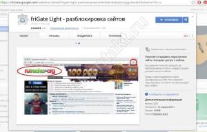 Расширение friGate - подключение Google Chrome