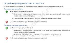 Брандмауэр Windows - Включение и отключение